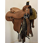"Used 15"" Mock Brothers Marker Team Roping Saddle"