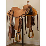 "New! 15.5"" Coolhorse HD Ranch Saddle with Lewis Tree"