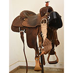 """Used 14.5"""" Double J Team Roping Saddle"""