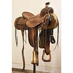 "Used 14.5"" Bowman Maker Ranch Saddle"