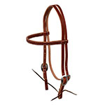 Berlin Leather Browband Headstall With Ties