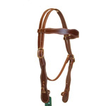 Berlin Leather Economy Cowboy Browband Headstall