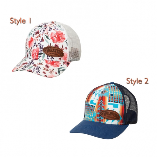 premium selection 0edd3 df334 Weaver Leather Caps with Leather Patch- 2 Styles  Coolhorse