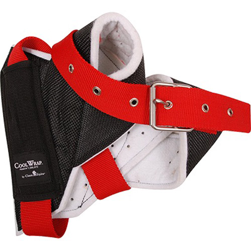 classic equine cool wrap horn wrap for team roping steers red