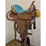 "New! 14"" Sonora Barrel Saddle By Silver Royal"
