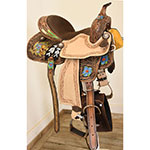 "New! 14"" Silver Royal Salvador Barrel Saddle"