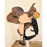 "New! 12"" Sweet Pea Barrel Racing Youth Saddle"