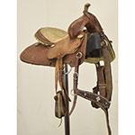 """Used 12"""" Tanya Steinhoff Barrel Saddle by Saddlesmith"""