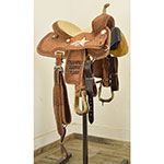 "SOLD! Used 12"" NRS Competitor Trophy Barrel Saddle"