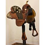 """Used 13.5"""" Bob Marshall Sports Saddle Barrel Saddle"""