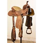 "SOLD! Used 13.5"" Coats Barrel Saddle By Larry Coats"
