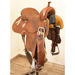 "Used 13.5"" Crown C Barrel Racing Saddle By Martin Saddlery"