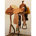 """Used 13.5"""" Coolhorse Team Roping Saddle"""
