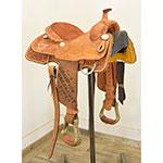 """Used 13.5"""" Twister Saddle Shop Trophy Roping Saddle"""