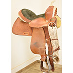 "Used 14"" Buffalo Saddlery Barrel Racing Saddle"