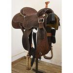 """Used 14.5"""" Cactus Saddlery Team Roping Saddle"""