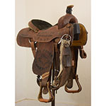 "Used 14.5"" Corriente Saddle Co. Trophy Team Roping Saddle"