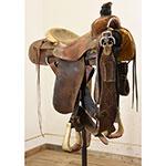 """Used 14.5"""" Glenn Hamilton Roping Saddle"""