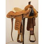 """Used 14.5"""" Hamman Saddlery Trophy Roping Saddle"""
