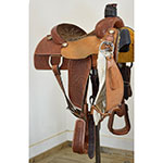 "SOLD Used 14.5"" Lazy L Team Roping Saddle"