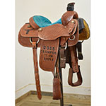 """SOLD Used 14.5"" Lazy L Team Roping Saddle"