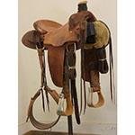 "Used 14.5"" Marlin Horton Marker Ranch Saddle"