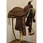 """Used 14.5"""" No Makers Stamp Roping Saddle"""