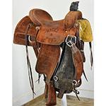 "Used 14.5"" Reinsman X Series Trophy Team Roping Saddle"