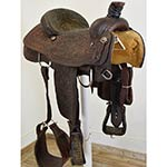 "Used 14.5"" Tod Slone Saddles Team Roping Saddle"