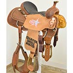 "Used 14"" Coolhorse Saddle Trophy Roping Saddle"