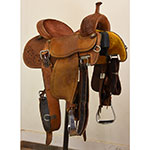 "Used 14"" Crown C By Martin Saddlery Barrel Saddle"