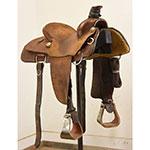 "Used 14"" Harry Jones Maker Team Roping Saddle"