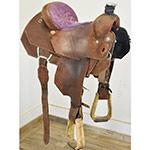 """Used 14"""" Double J Saddlery Hi-Tech Team Roping Saddle"""