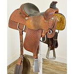 "Used 14"" Lazy L Saddles Team Roping Saddles Designed by Larry Coats"