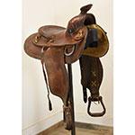 """Used 14"""" C.W. Oliver Handmade Roping Saddle"""