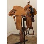 "Used 14"" Russel Harris Calf Roping Saddle"