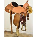 """Used 15.5"""" Cactus Saddlery Team Roping Saddle"""