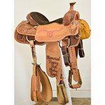 "Used 15.5"" Coolhorse Saddle Trophy Team Roping Saddle"