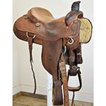 "SOLD Used 15.5"" Coats Saddlery Team Roping Saddle"