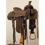 "Used 15.5"" Dale Martin Ranch Roping Saddle"