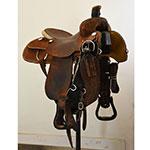 "Used 15.5"" Henderson Custom Saddlery Ranch Roping Saddle"