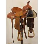 "Used 13.5"" Lazy L Saddles Barrel Racing Saddle by Larry Coats"