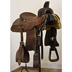 "Used 15.5"" Marty Byrd Team Roping Saddle"