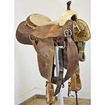 """Used 15.5"""" R Brooks Saddlery Ranch Cutting Saddle"""