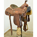 """Used 15.5"""" Twister Trophy Team Roping Saddle"""