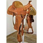 "Used 15"" Alamo Saddlery Roping Saddle"