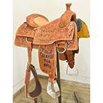 """Used 15"""" Cowboy Classic Saddlery Trophy Roping Saddle"""