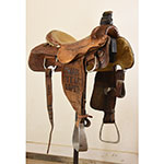 """Used 15"""" Coolhorse Team Trophy Roping Saddle"""