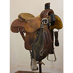 "Used 15"" Coolhorse Team Roping Saddle"