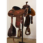 """SOLD Used 15"""" Coolhorse Team Roping Saddle"""